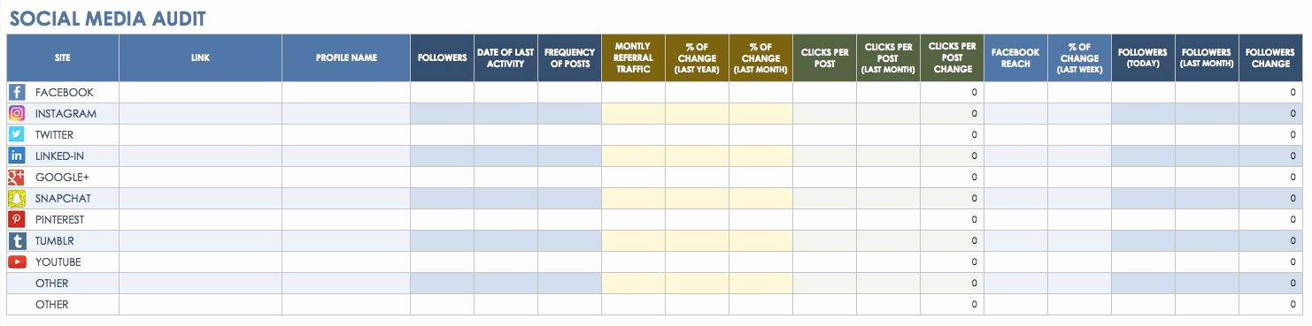Social Media Post Scheduler Template Beautiful social Media Calendar Excel