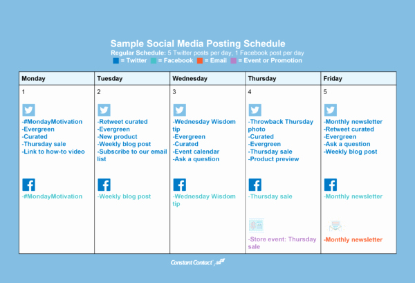 Social Media Post Scheduler Template Best Of How to Create A social Media Posting Schedule