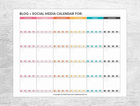 Social Media Post Scheduler Template Elegant Free Editorial Calendar Template 2019