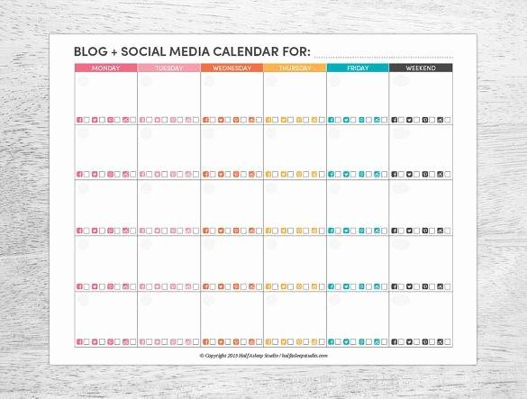 Social Media Post Scheduler Template Elegant Free Editorial Calendar Template 2019