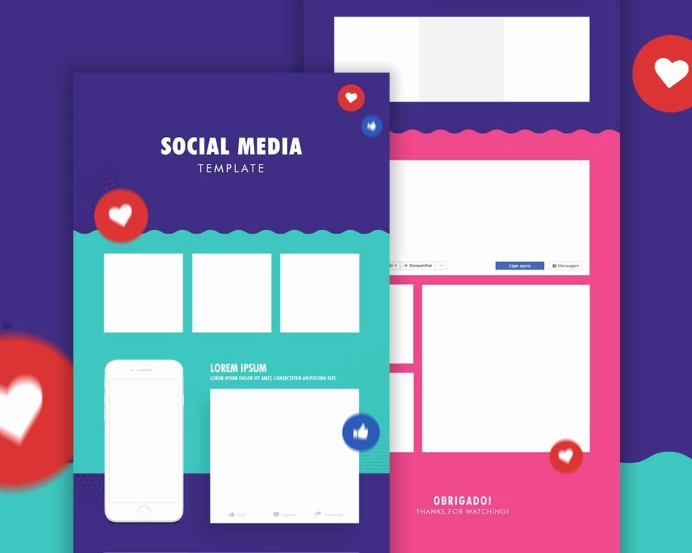 Social Media Post Scheduler Template Elegant Free social Media Post Template Psd Download Psd