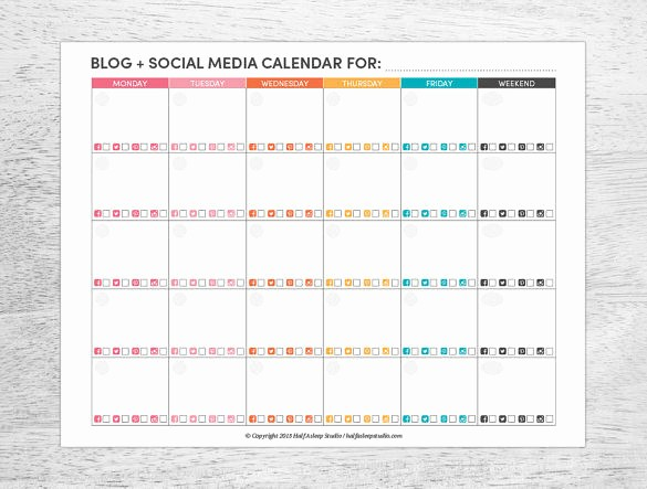 Social Media Post Scheduler Template Fresh 7 social Media Schedule Templates Free Sample Example