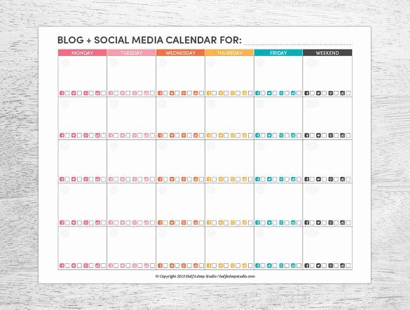 Social Media Post Scheduler Template Fresh 7 social Media Schedule Templates Free Sample Example
