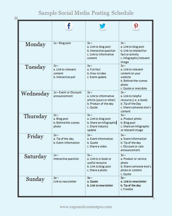 Social Media Post Scheduler Template Fresh Blog Copy and Content Pro
