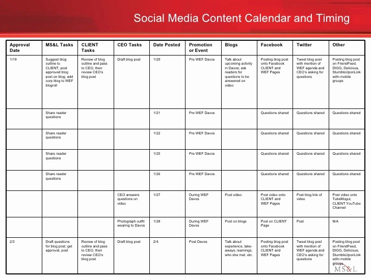 Social Media Post Scheduler Template Inspirational social Media Engagement Plan Example