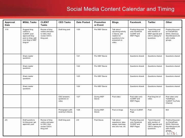Social Media Post Scheduler Template Inspirational social Media Engagement Plan Example