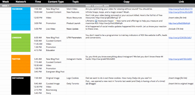 Social Media Post Scheduler Template Lovely 7 social Media Templates to Save You Hours Of Work