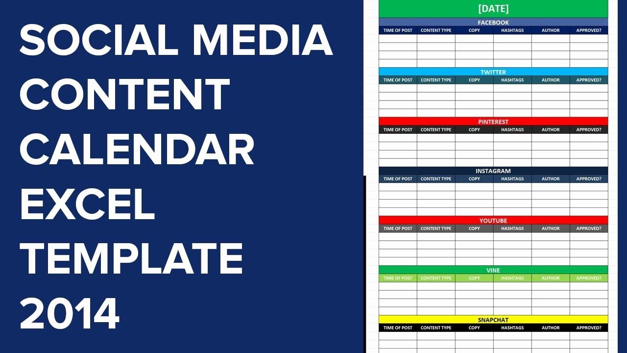 Social Media Post Scheduler Template Unique social Media Editorial Calendar Excel Template