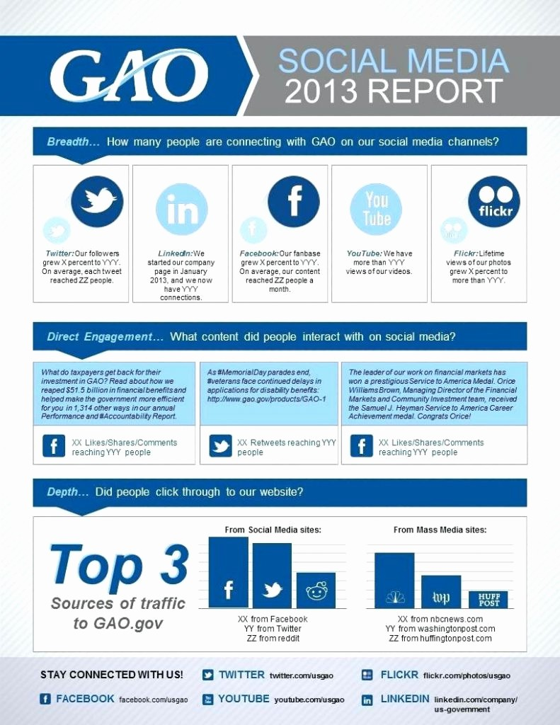 Social Media Report Template Download Elegant Free social Media Report Template Spreadsheet Powerpoint