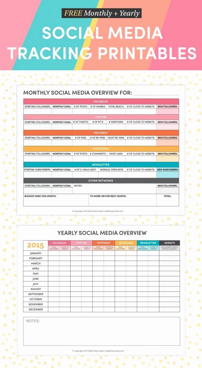 Social Media Report Template Download Elegant social Media Report Template Download