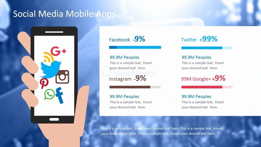 Social Media Report Template Download Lovely social Media Apps Powerpoint Template Slidemodel