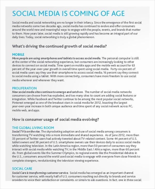 Social Media Report Template Download Luxury Report Template – 15 Free Word Pdf Documents Download