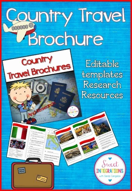 Social Media Templates for Students Lovely 1000 Ideas About Travel Brochure Template On Pinterest