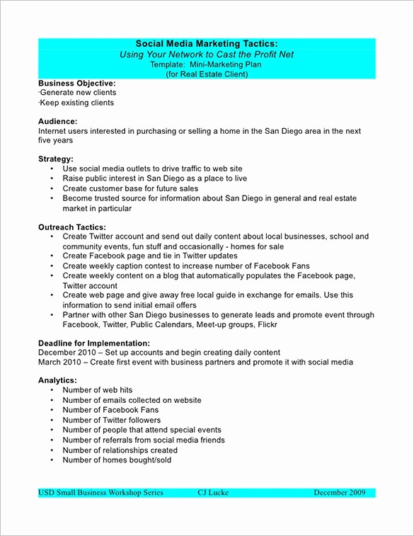 Social Media Templates for Students New Marketing Plan Outline Template 13 Free Sample Example