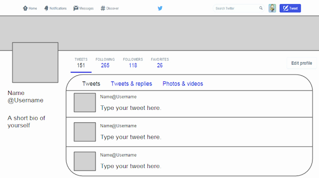 Social Media Templates for Students New Twitter Template for Students