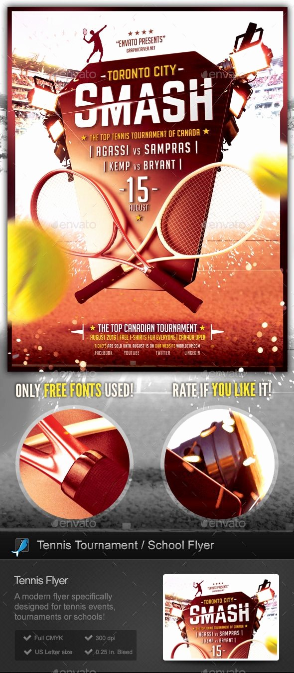 Softball tournament Flyer Template Free Awesome Tennis tournament School Flyer Template