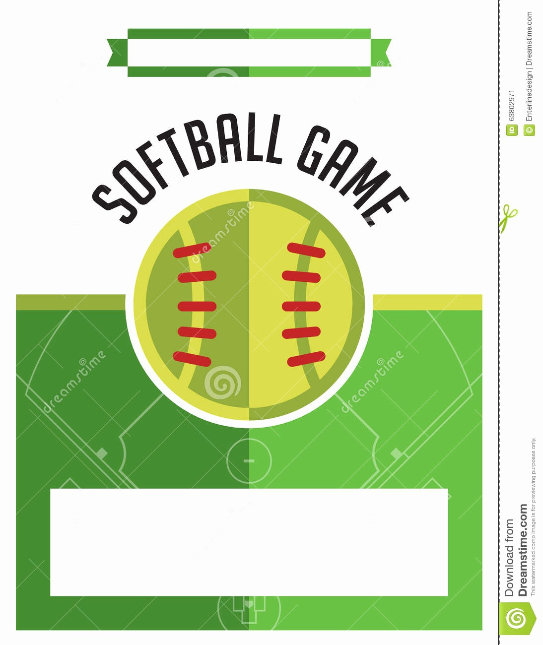Softball tournament Flyer Template Free Best Of softball Game Flyer Illustration Stock Vector Image