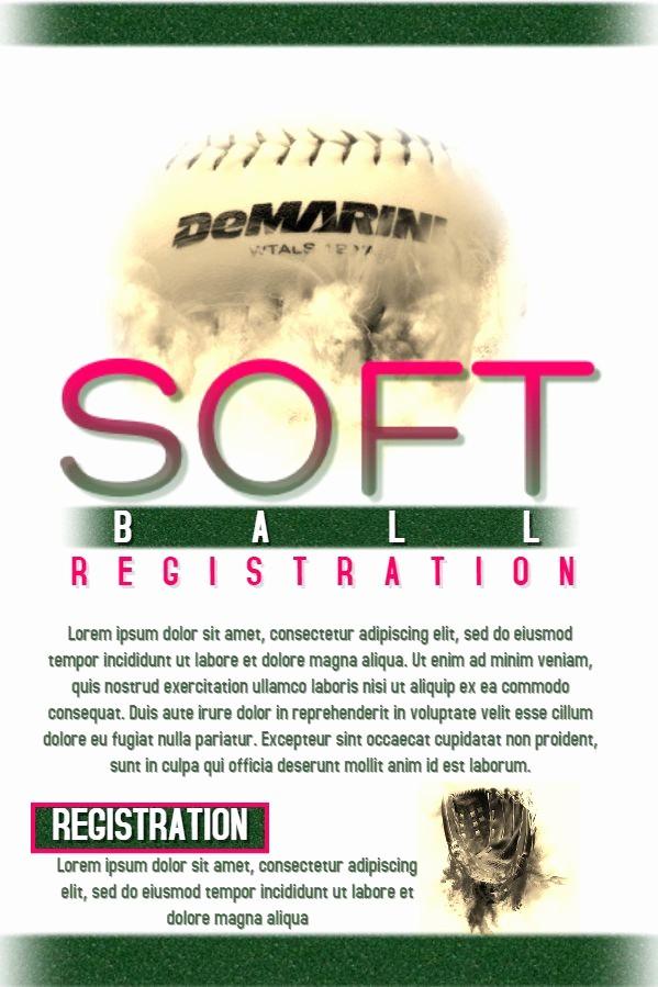 Softball tournament Flyer Template Free Best Of softball tournament Poster Template