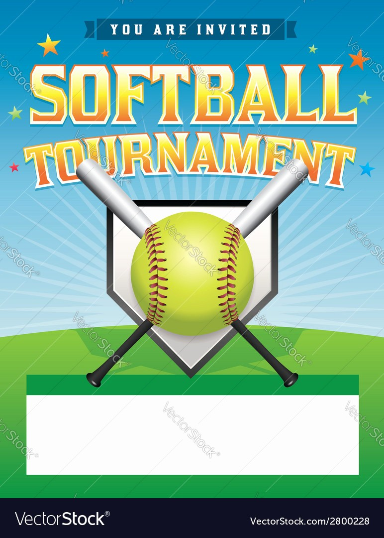 Softball tournament Flyer Template Free Fresh softball tournament Flyer Royalty Free Vector I and
