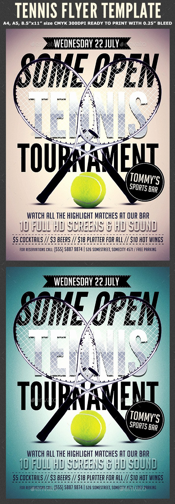 Softball tournament Flyer Template Free Lovely Tennis Flyer Template 2 by Hotpin