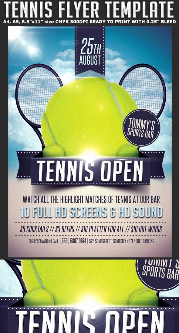Softball tournament Flyer Template Free New Tennis Flyer Template