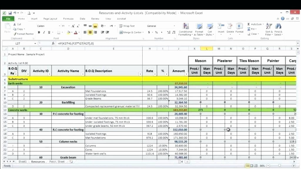 Software Project Plan Template Excel Best Of Project Resource Allocation Template – Buildingcontractor