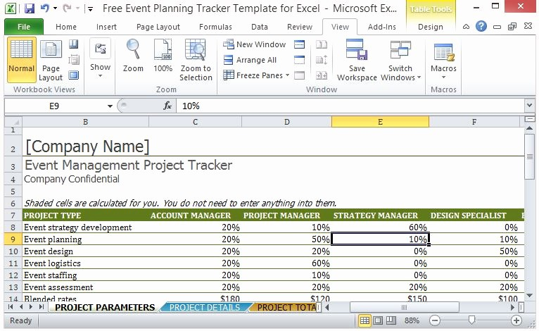 Software Project Plan Template Excel Inspirational Free event Planning Tracker Template for Excel