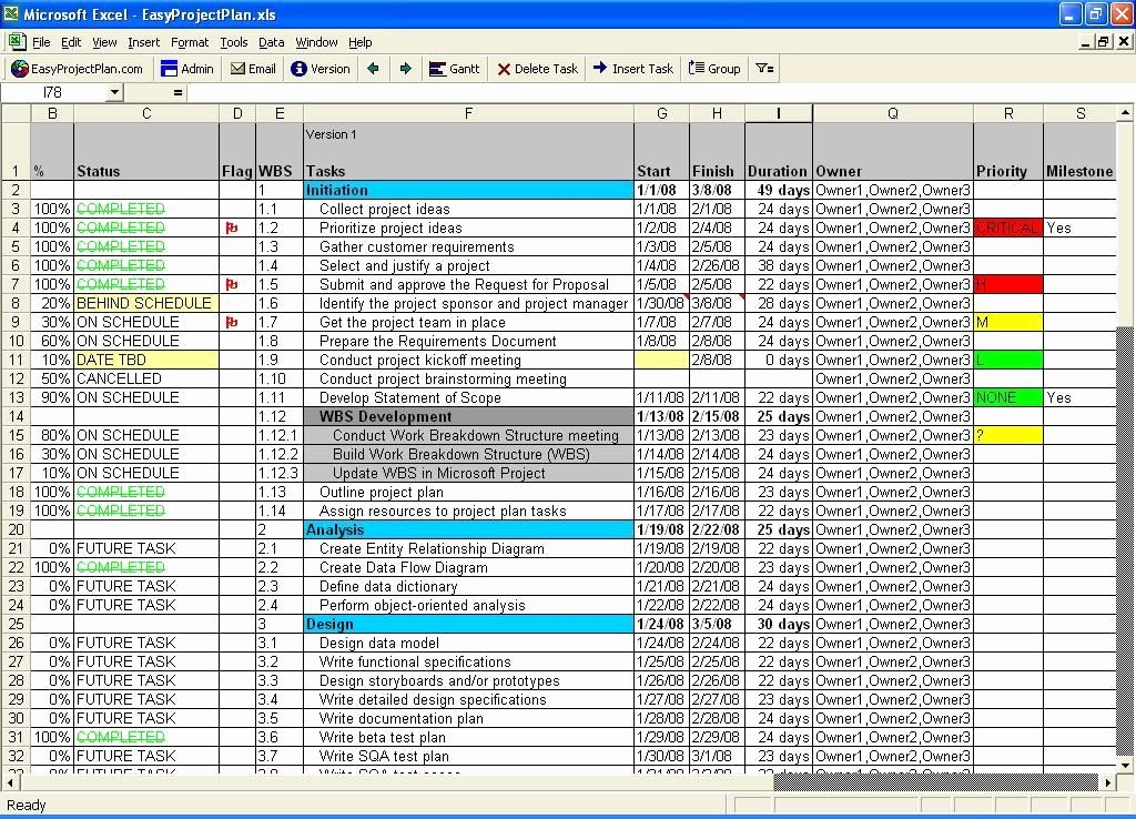 Software Project Plan Template Excel New Easyprojectplan