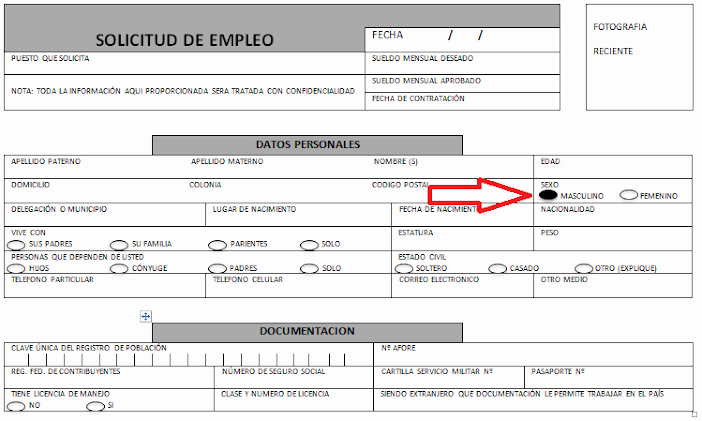 Solicitud De Empleo En Blanco Inspirational solicitud De Empleo Identi