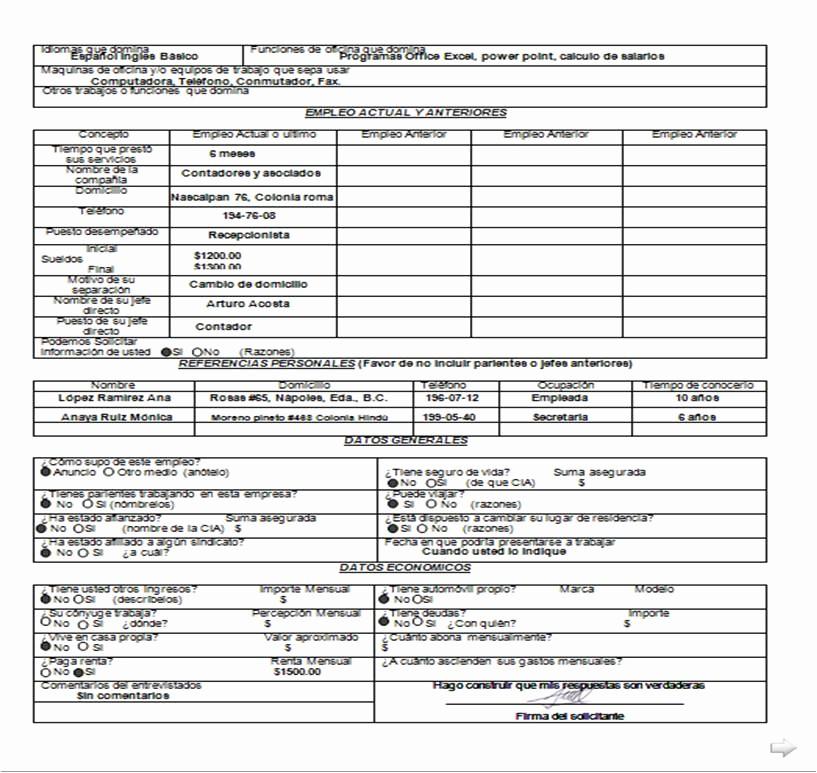 Solicitud De Empleo En Blanco Luxury Guia Didactica Documentacion Administrativa 2do A