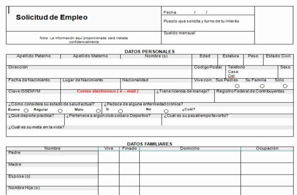 """Solicitud De Empleo En Blanco New formato De """"solicitud De Empleo"""""""