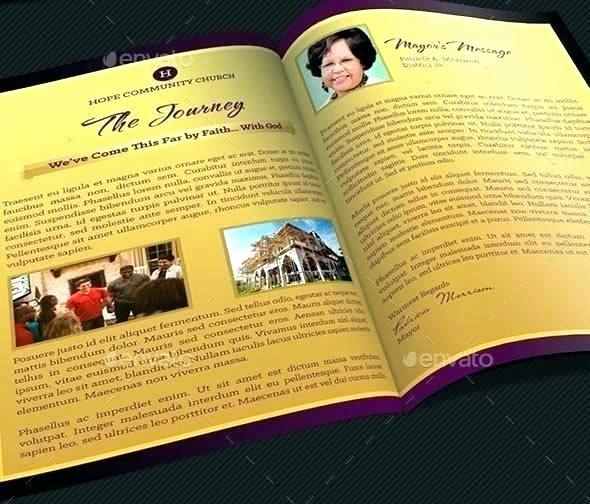 Souvenir Booklet Template Microsoft Word Elegant Church souvenir Booklet Samples