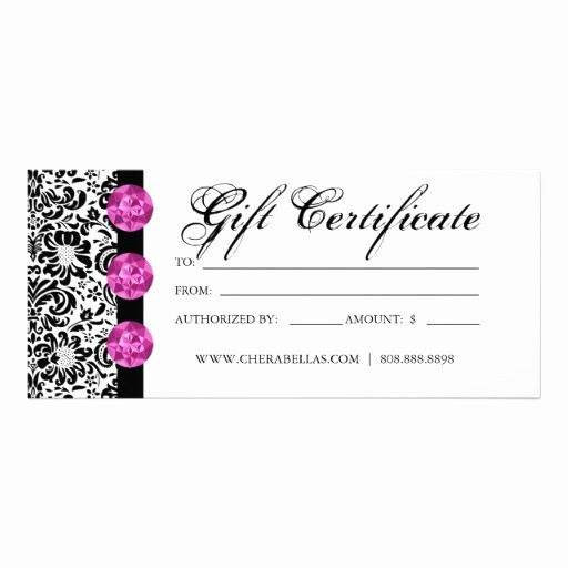 Spa Gift Certificate Template Free Awesome Blank Gift Certificates