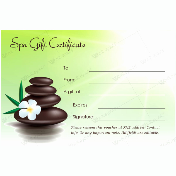 Spa Gift Certificate Template Free Awesome This Spa T Certificate Template is Designed In