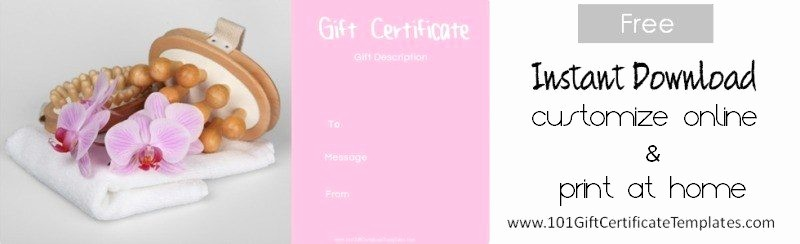 Spa Gift Certificate Template Free Beautiful Spa Gift Certificates