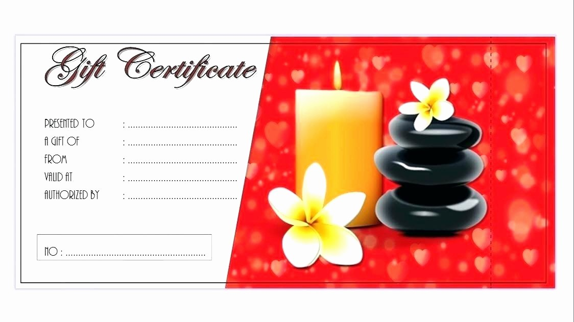 Spa Gift Certificate Template Free Best Of Make Gift Certificates with Printable Homemade Massage
