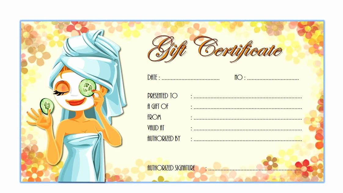 Spa Gift Certificate Template Free Elegant Spa Gift Certificate Template Free Gift Ftempo