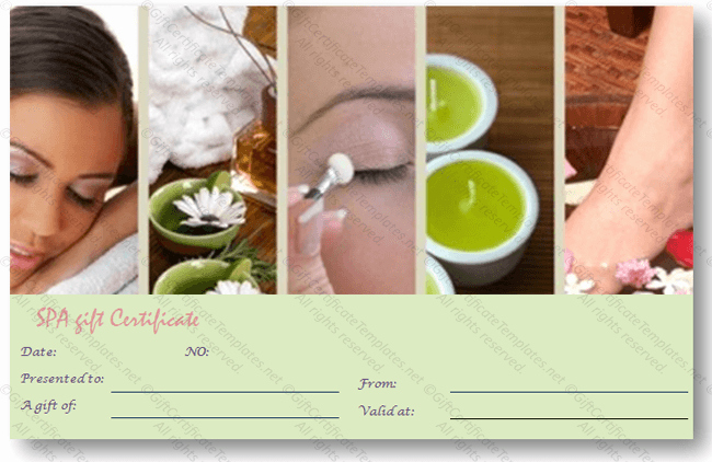 Spa Gift Certificate Template Free Fresh Gift Certificate Templates