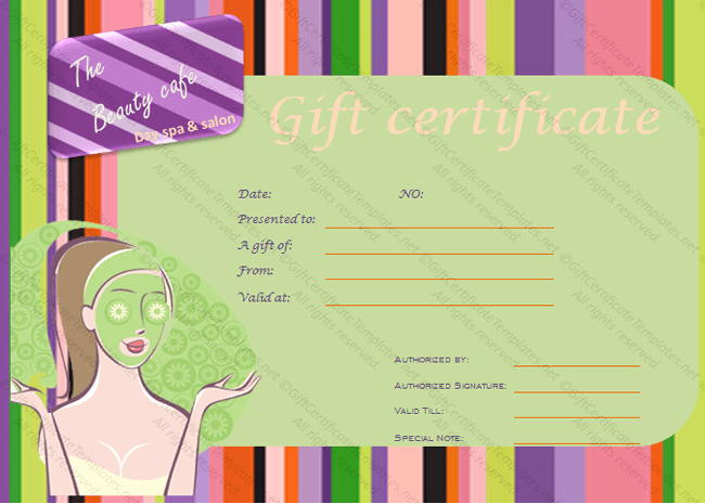 Spa Gift Certificate Template Free Inspirational Gift Certificate Templates