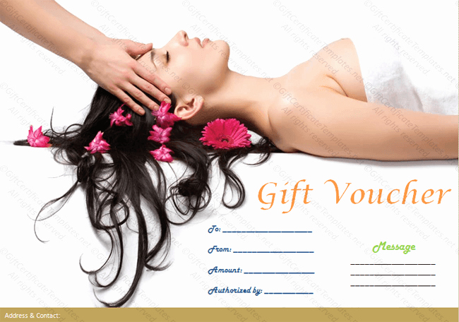 Spa Gift Certificate Template Free Inspirational Printable Spa Gift Certificate Template Spa Templates