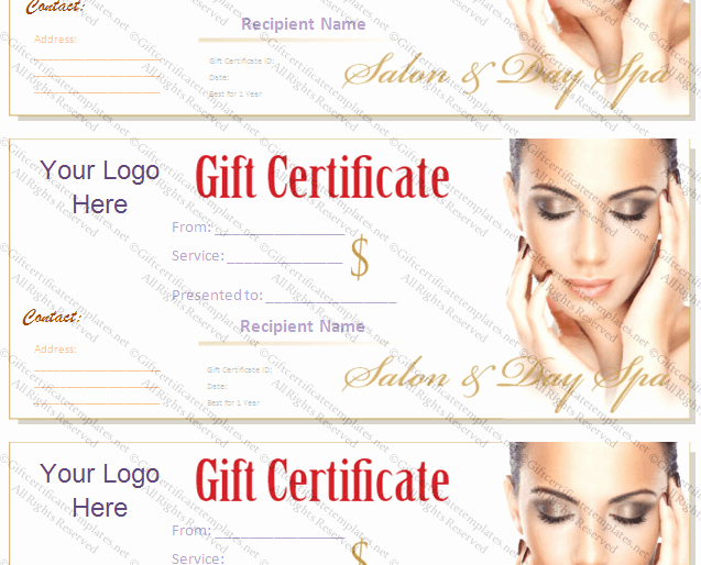 Spa Gift Certificate Template Free Lovely Printable T Certificate Template Gift Certificate
