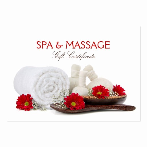 Spa Gift Certificate Template Free Luxury Massage & Spa Salon Gift Certificate Business Cards