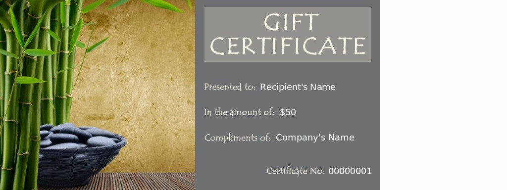 Spa Gift Certificate Template Free Unique Spa Gift Certificates Massage therapy Certificate Template