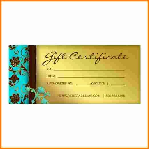 Spa Gift Certificates Templates Free Awesome Salon T Certificate Template