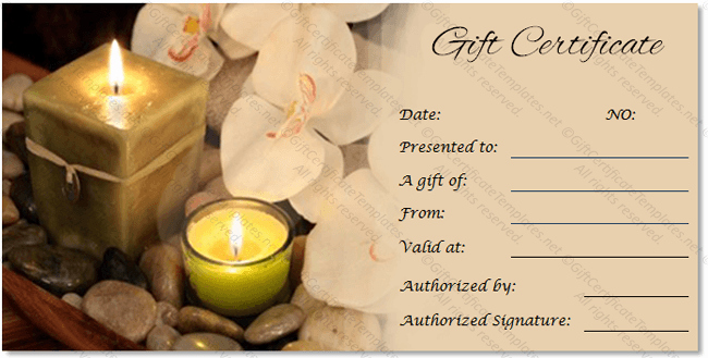 Spa Gift Certificates Templates Free Awesome Spa Gift Certificate Templates