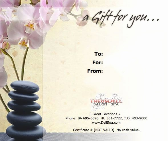 Spa Gift Certificates Templates Free Best Of Free Spa Gift Certificate Template Invitation Template