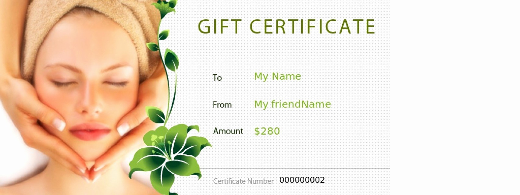 Spa Gift Certificates Templates Free Best Of Lilium Zen Spa Santorini Spa Gifts and Vouchers
