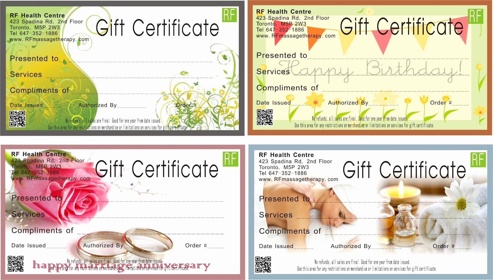 Spa Gift Certificates Templates Free Elegant Blank Spa Gift Certificate Template