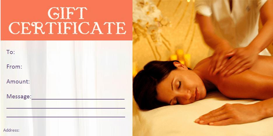 Spa Gift Certificates Templates Free Fresh Gift Certificate Templates