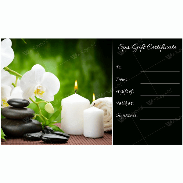 Spa Gift Certificates Templates Free Lovely Draw Visitors In to Your Spa with Help Of Spa Gift